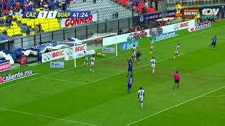Gol de J. Madueña | Cruz Azul 2 - 1 Lobos BUAP | Apertura 2018 - Jornada 16 | LIGA Bancomer MX
