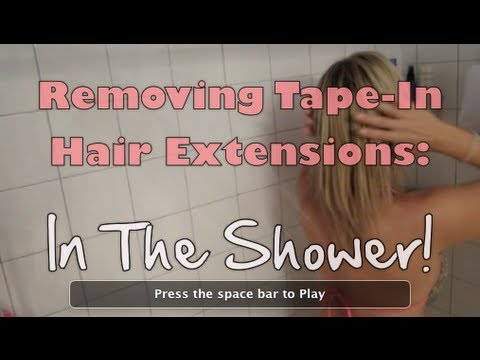 52 weeks of beauty 2013 week 24 shower video removing tape 52 weeks of beauty 2013 week 24 shower video removing tape in extensions the entire process pmusecretfo Image collections