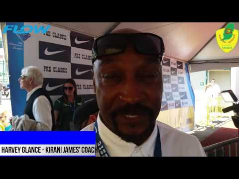 Harvey Glance in Mixed Zone - Prefontaine Classic 2016