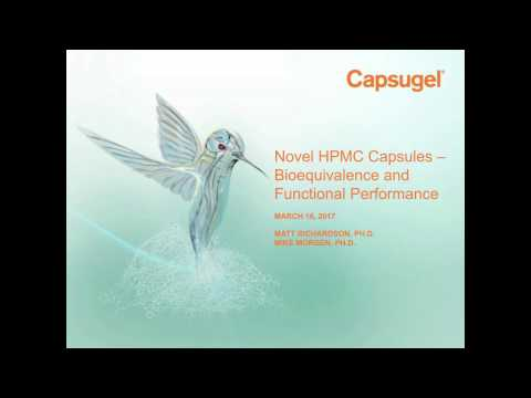 Novel HPMC Capsules - Bioequivalence & Functional Performance