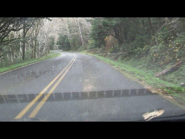 Driving to Agness, more vid; Oregon