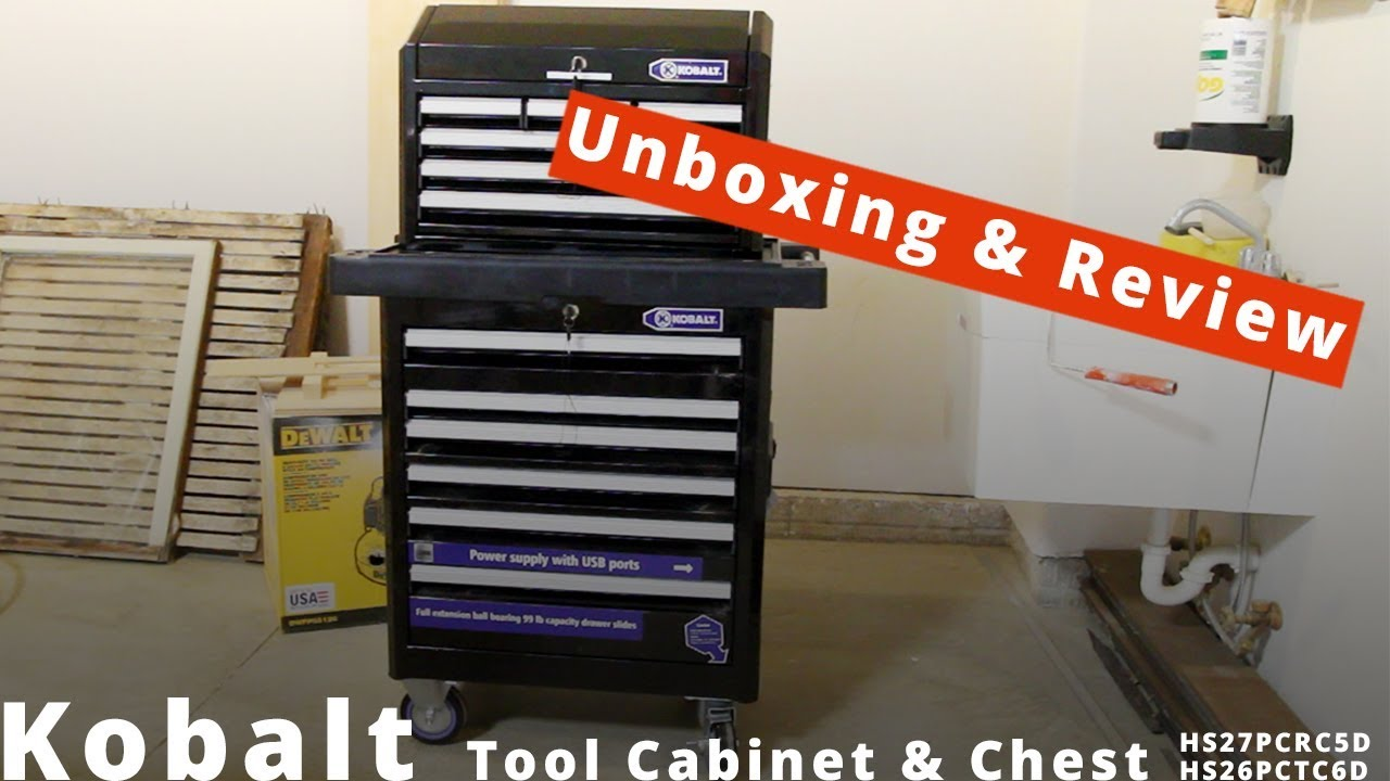 Kobalt Tool Cabinet >> Kobalt Tool Cabinet And Chest Unboxing Review Youtube