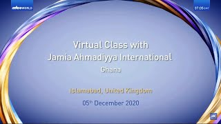 Virtual Class | Jamia Ahmadiyya Ghana | Translation | Tamil