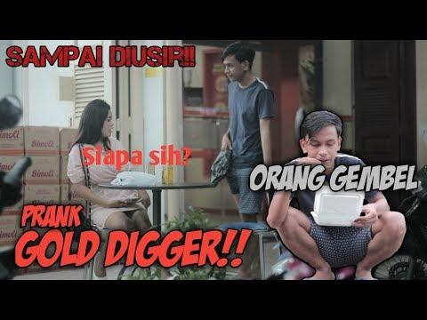 PRANK NYAMAR JADI GEMBEL KE CEWEK MATRE SAMPAI MINTA NOMOR WHATSAPP || GOLD DIGGER PRANK INDONESIA