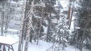 Rupes pikkusen lunta tuiskutaan
