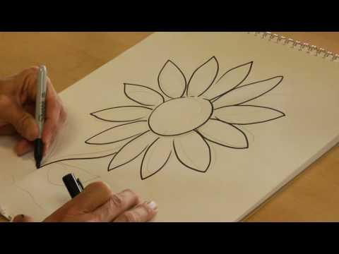 Daisy Flower Sketch Art