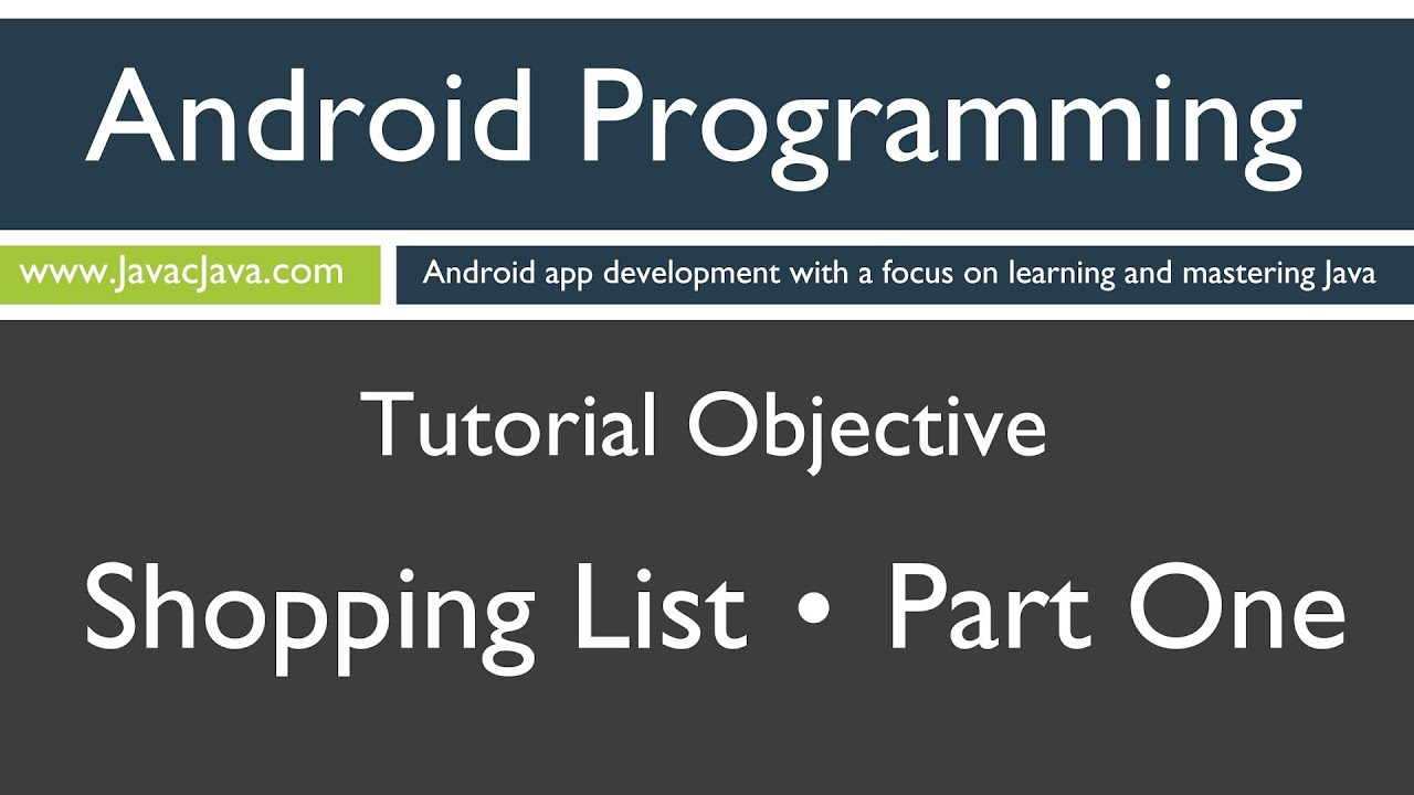 Learn android programming android shopping list part 1 tutorial learn android programming android shopping list part 1 tutorial youtube baditri Image collections