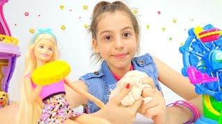 Игры с Барби - Делаем пластилин своими руками. Приключения Барби - Мультики для девочек