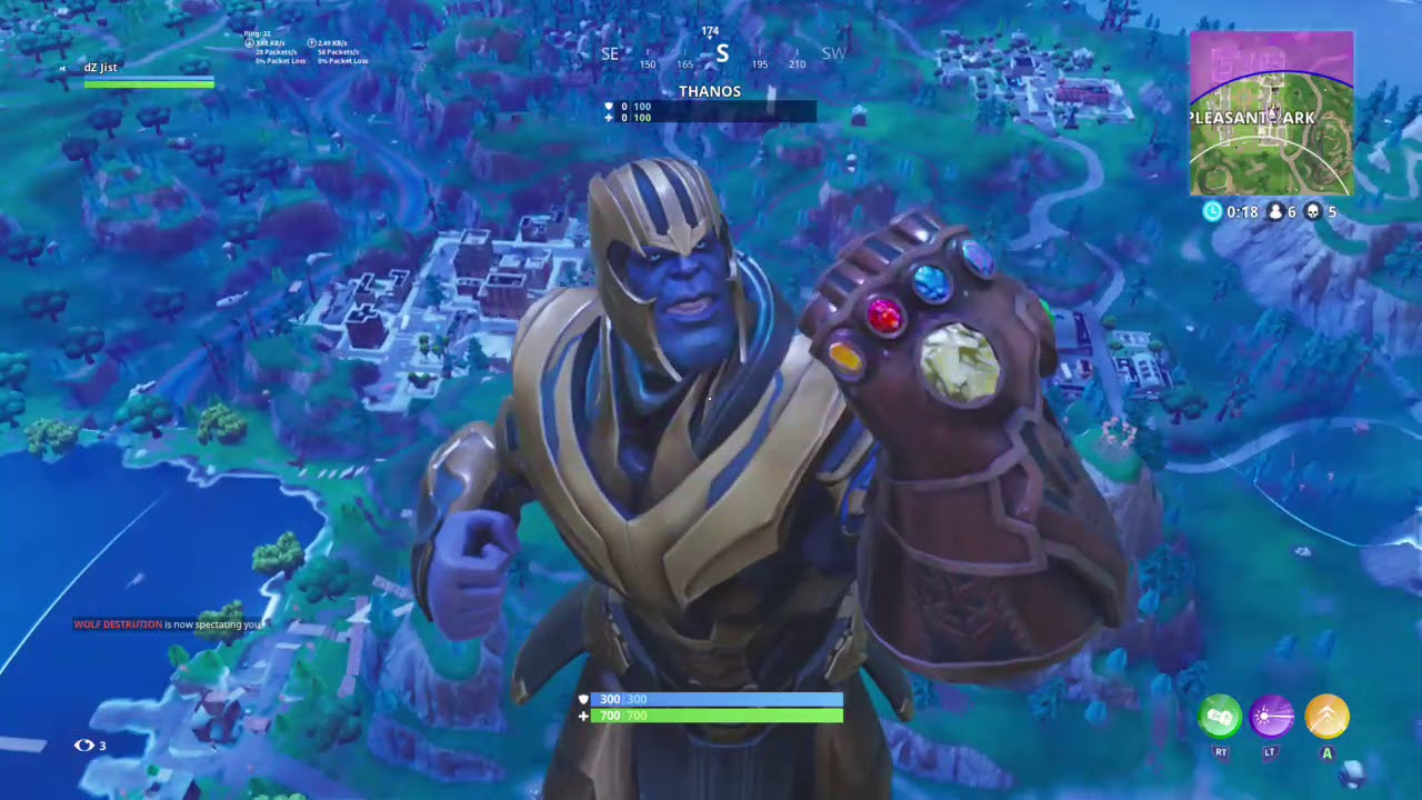 Fornite - The 1ST! THANOS WIN Gameplay | Infinity Gauntlet VICTORY! OP!