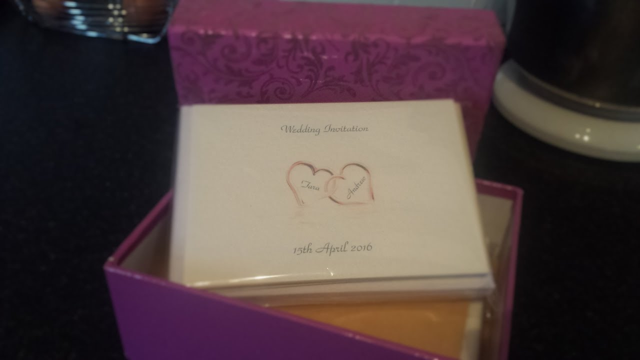 Wedding Invites unboxing - YouTube