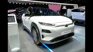 HYUNDAI KONA ELECTRIC VEHICLE EV COMPACT SUV NEW MODEL 2018 WALKAROUND + INTERIOR