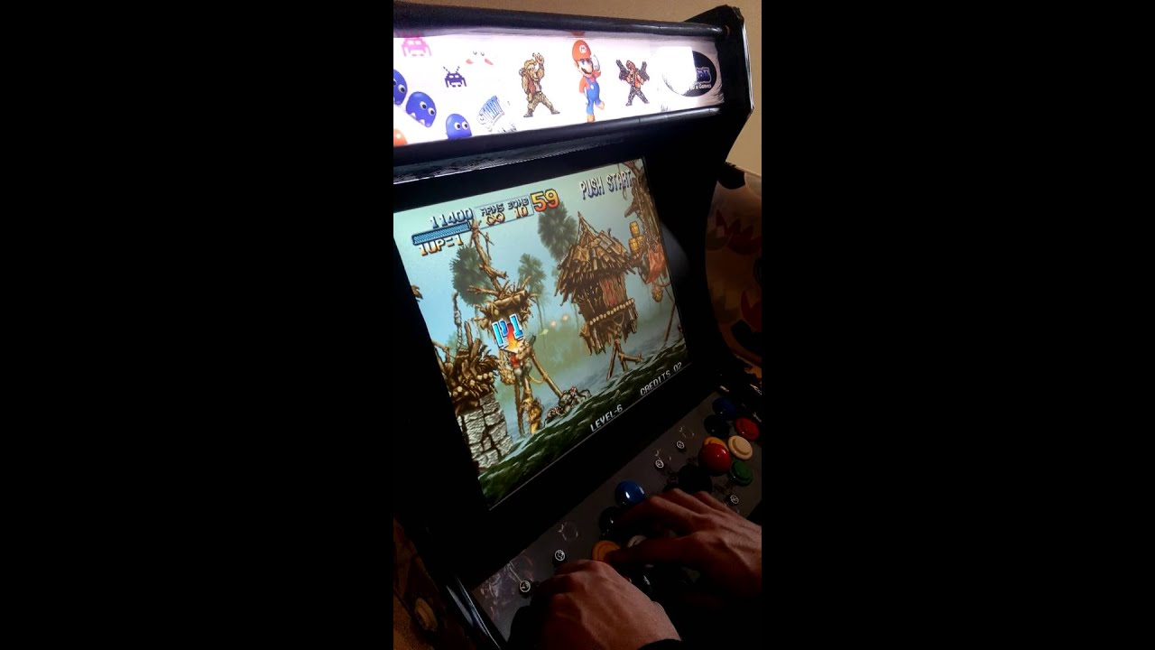 Bartop Arcade 2 player homemade with Pandora\'s box 3 - YouTube