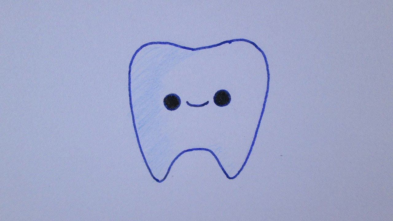 how to draw a tooth youtube