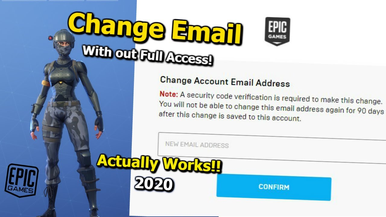 How to change your Epic Games Email Address without Full ...