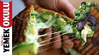 Pesto Soslu, Avokadolu Yeşil Tost Tarifi   Kahvaltı Tarifleri