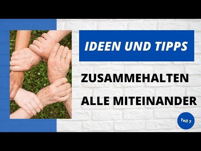 Ideen und Tipps - Zusammenhalten - Teil 7