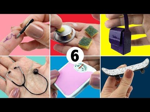 6 Coisas fáceis de fazer para Boneca Barbie - DIY Miniatura