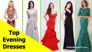 Top 50 beautiful Evening dresses with sleeves, long evening dresses for women S5