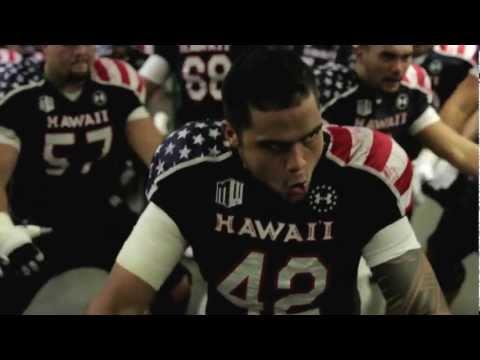 hot sale online d92c5 b36be University of Hawai'i Warrior Football Team Pre-game Haka vs ...