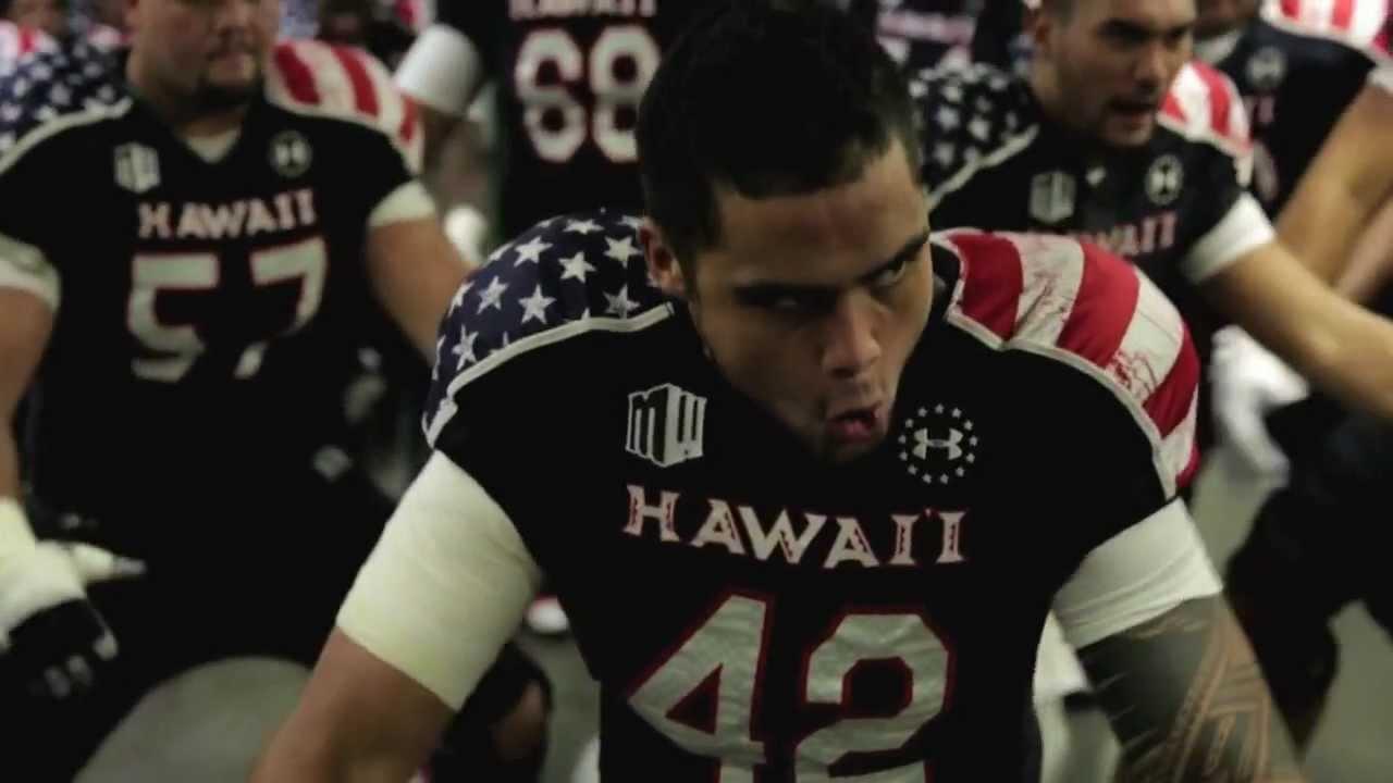 los angeles aaa24 5a2f1 University of Hawai'i Warrior Football Team Pre-game Haka vs. UNLV on  Military Night.