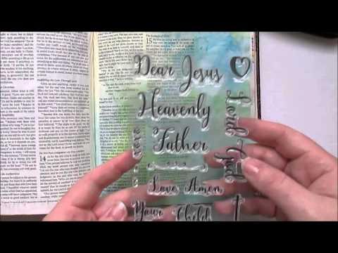 romans 15:13 Bible Journaling Water color tutorial Growing Meadows Tai Bender Prayer Journal