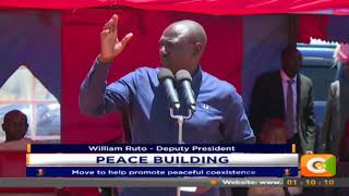 DP Ruto in West Pokot in a move to help promote peaceful coexistence