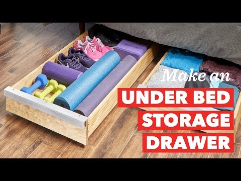 How to Build an Under Bed Storage Drawer