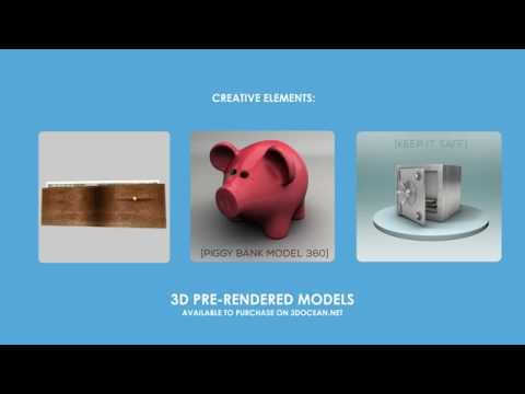 Money, Finance and Economics 3D and 2D After Effects Template