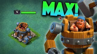 UNLOCKING / GEMMING NEW HERO TO MAX! THE NEW BATTLE MACHINE IN CLASH OF CLANS!
