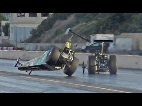 This Two-Wheeling Dragster Near-Miss Might Be the Save of the Year
