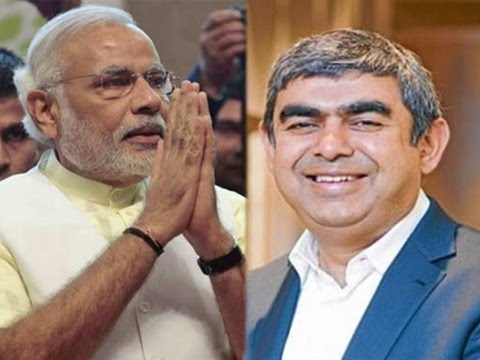 Infosys CEO Vishal Sikka Meets PM - TOI