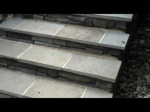 Bluestone Walkways, Stairs And Patio Uses; Chris Orser Landscaping   YouTube