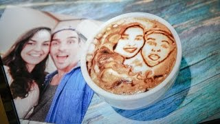 LATTE ART OF OUR FACES?!