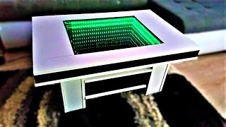 How To Make 3D LED Illuminated INFINITY VANITY MIRROR Coffee Table