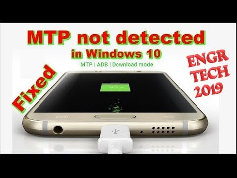How To Fix MTP Driver Problem In Windows 10 - 2019
