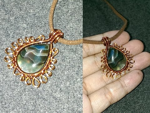pendants with teardrop stones - Handmade Jewelry Ideas  197