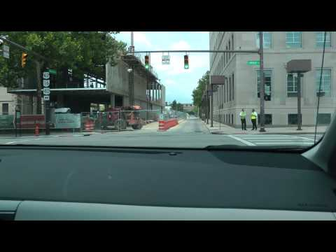 driving in downtown Columbus, Ohio June 2014