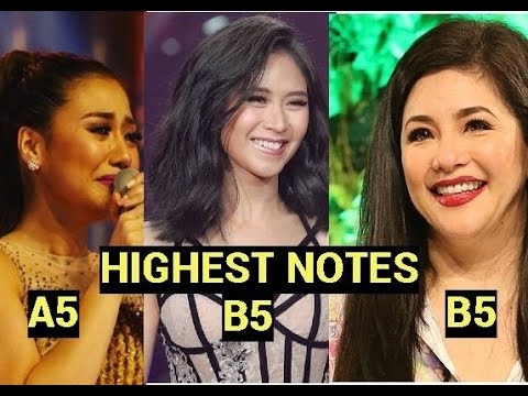 Filipino Singers HIGHEST BELTED NOTE l A5 - B5 - 동영상