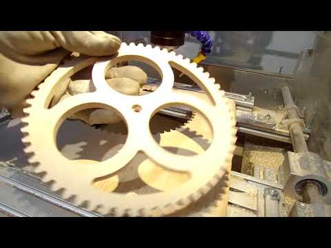 Wooden gear clock made with my DIY CNC machine