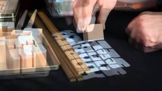 T-Shirt Druck mit Holzbuchstaben