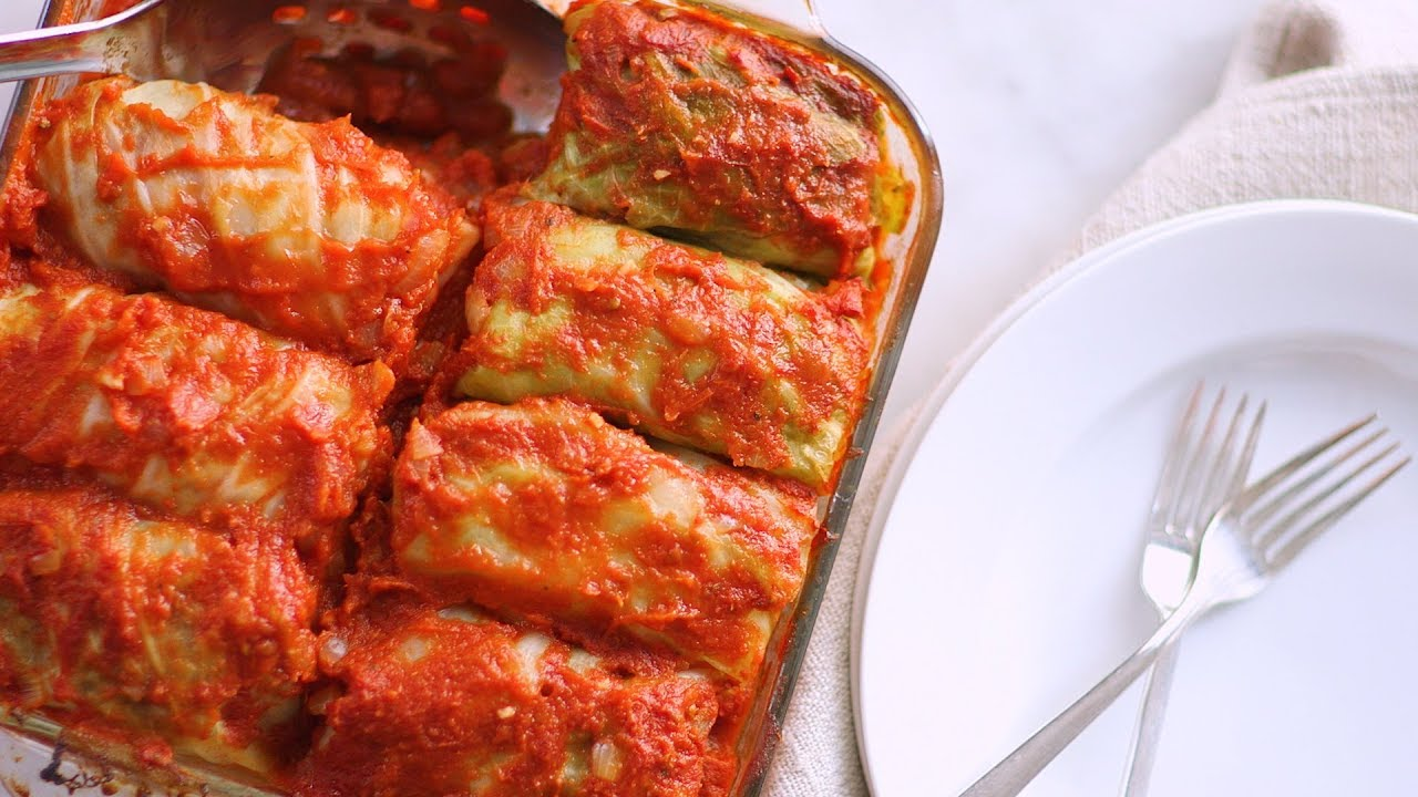 Stuffed Cabbage with Beef and Rice- Everyday Food with ...