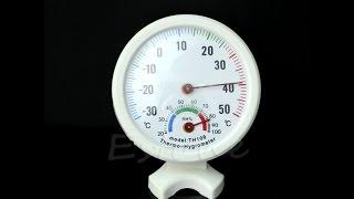 мини термометр, гигрометр, механический, распаковка, обзор, посылка, Aliexpress