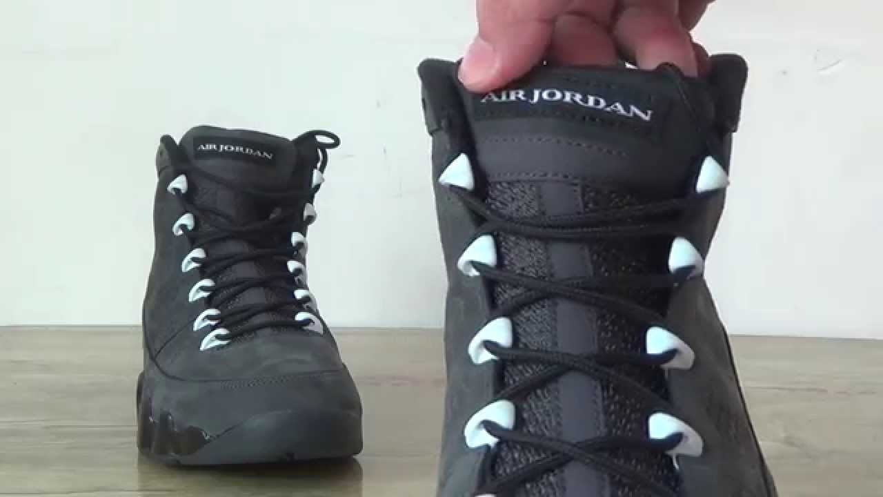 f27cc311cfb9 Air Jordan 9 Anthracite review - YouTube