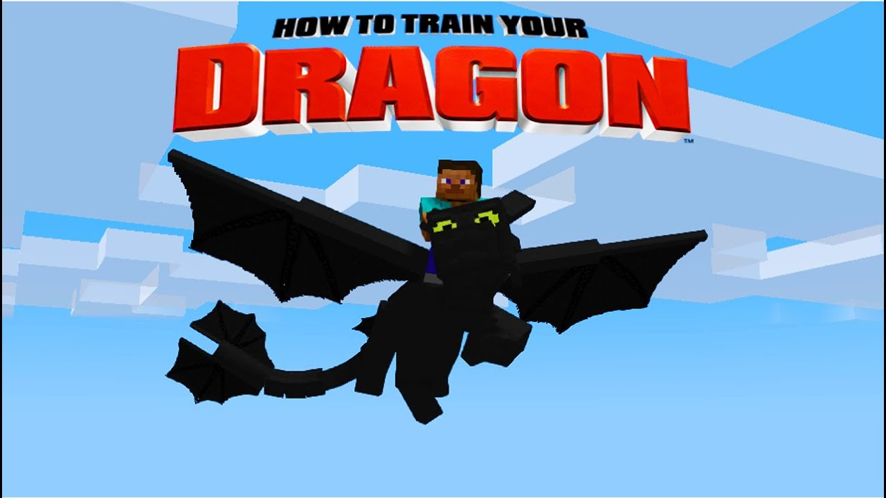 Minecraft How To Train Your Dragon A Night Fury 15
