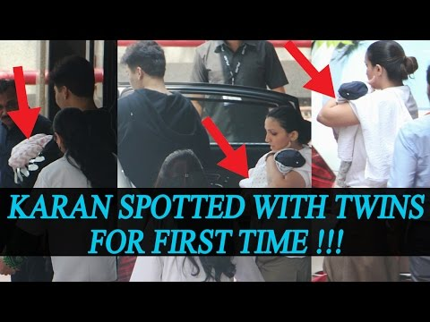 Thumbnail: Karan Johar spotted with twins Yash & Roohi for the first time | FilmiBeat