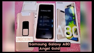 Unboxing Samsung Galaxy A80 Angel Gold