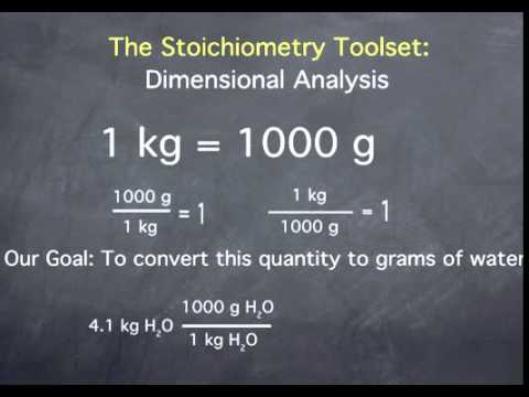 Dimensional Analysis/Stoichiometric Conversions