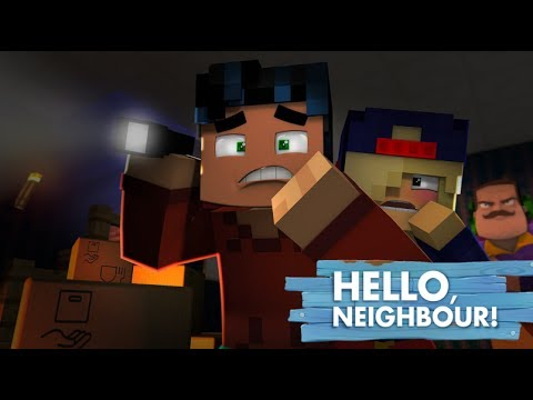 Hello Neighbor. Whats in the Basement?!?!  (minecraft Roleplay)