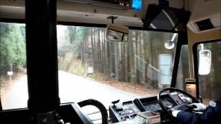 【西日本JRバス】 高雄京北線 栗尾峠 前面展望 (栗尾町→滝ノ町付近)
