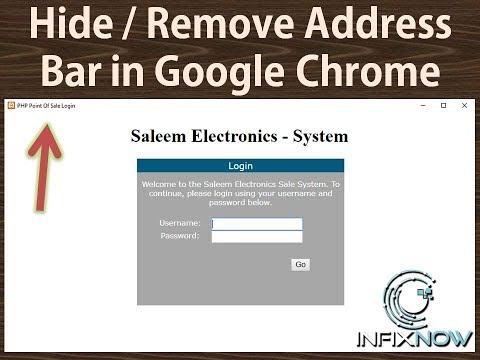 Hide / Remove address bar in google chrome - YouTube